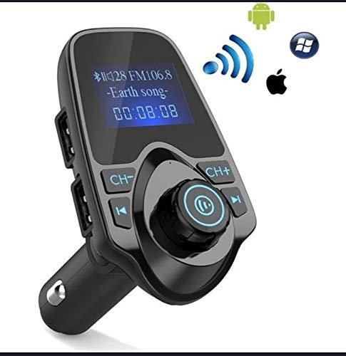FM Transmitter Bluetooth, FM-zender voor autoradio adapter, handsfree carkit voor TF-kaart, USB-poort, micro SD-kaart, U-disc, mobiele telefoon, draagbare tablets, andere Bluetooth-apparaten