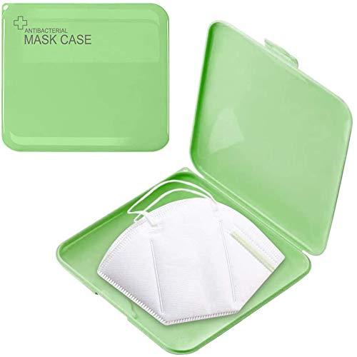GOUSHY 1pcs Custodia Rigida per Mascherina per Bambini e Adulti, Porta Mascherina per Borsa, Organizer Borsa, Kids Mask Case Bag (Verde)
