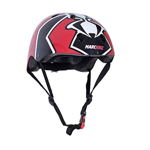 Kiddimoto Fahrrad Helm für Kinder / Fahrradhelm / Design Sport Helm für skates, roller, scooter, laufrad - Größe S (48-53cm) - Marc Marquez Offiziell