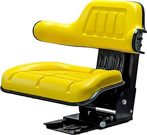 KlaraSeats kompatibel mit John Deere Schleppersitz Traktorsitz PVC Gelb KS 44/2H