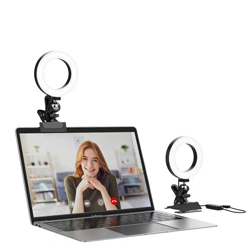 Ringlicht Firbon Videokonferenz Beleuchtungsset mit 3 umschaltbaren Lichtmodi für Zoom-Besprechung, Fernarbeit, Live-Streaming, Vlogging