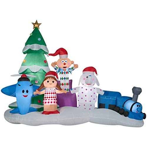 Gemmy Airblown Inflatable 9 1/2' Rudolph The Red Nosed Reindeer Island of Misfit Toys Scene