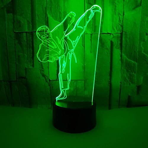 Light Creative 3D Led Light Vision Gradient Karate Table Lamp Usb Taekwondo Modelling Bedroom Lighting Decor For Gifts Kid
