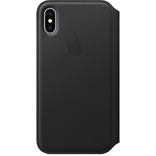 Apple Funda Leather Folio (para el iPhone X) - Negro