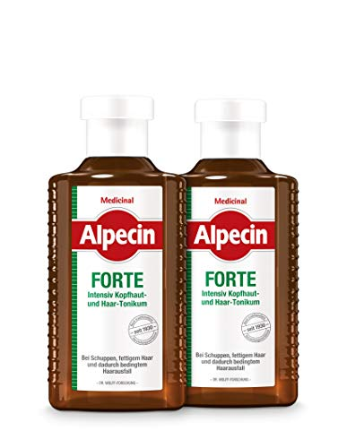 Alpecin Medicinal FORTE - Intensiv Kopfhaut- und Haar-Tonikum - Gegen schuppende Kopfhaut und dadurch bedingten Haarausfall - 2 x 200 ml