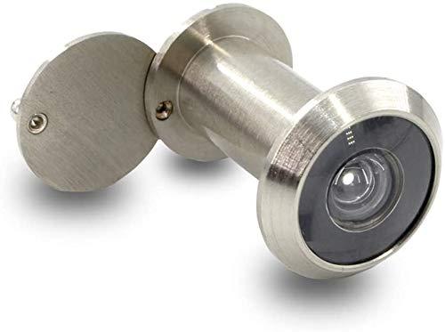 Türspion mit Sichtschutz   Echtglaslinse   14 mm Bohrloch   Weitwinkel 200°   Farbe: Edelstahl satiniert