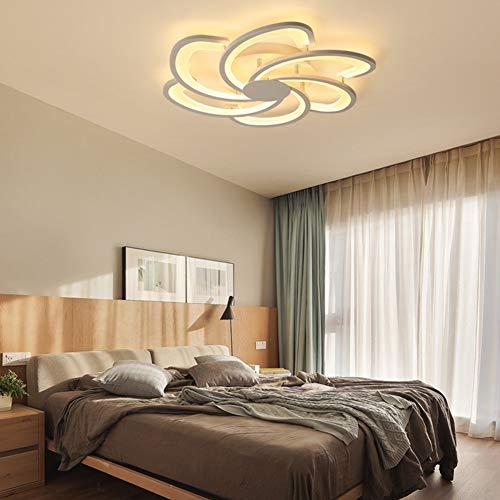 YAYONG Lámpara de Techo LED Nordic Creative Simple Spray Flor Dormitorio Sala de Estar...