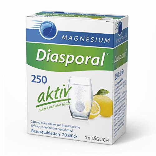 Magnesium-Diasporal 250 aktiv, Brausetabletten: 250 mg Magnesium pro Tablette, 20 Tabletten