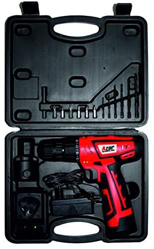 Azor TL-10-4141 Taladro de Batería de Litio, 14.04 W, 10.8 V, Rojo