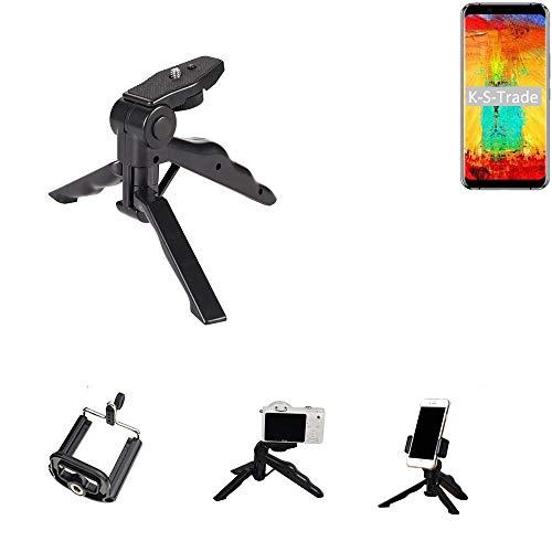 K-S-Trade Trípode para Teléfono Móvil Leagoo S8 Pro Trípode Mini De Cámara Compacta Trípode De Teléfono Móvil Plástico Negro (1x)
