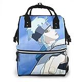 Mochila para pañales – Azul Naruto Shippuden Multifunción Impermeable Mochila de Viaje Pañales Bolsas Cambiantes