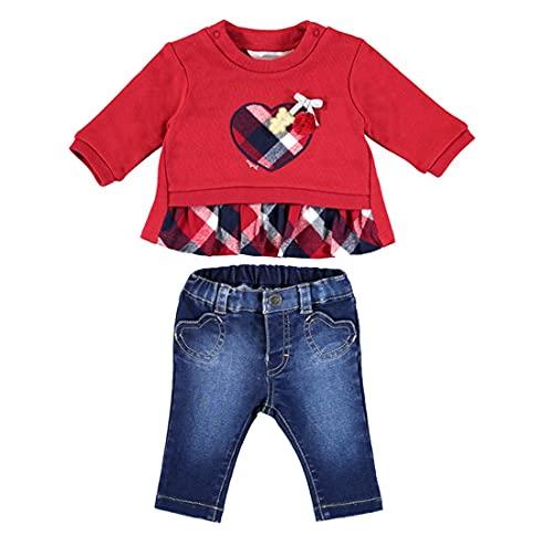 Mayoral Conjunto Pantalón Largo Pullover Bebe Niña Rojo 0-18 meses (6 a 9 meses)