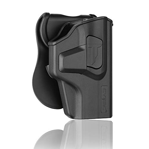Sig P320 Holsters, OWB Holster for Sig Sauer P320 Carry / M18, Polymer Tactical Outside The Waistband Carry Belt Holster with 360° Adjustable Paddle-Right Hand
