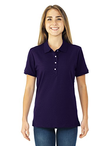 Jerzees 437W Ladies Spotshield Jersey Polo - Deep Purple, Large