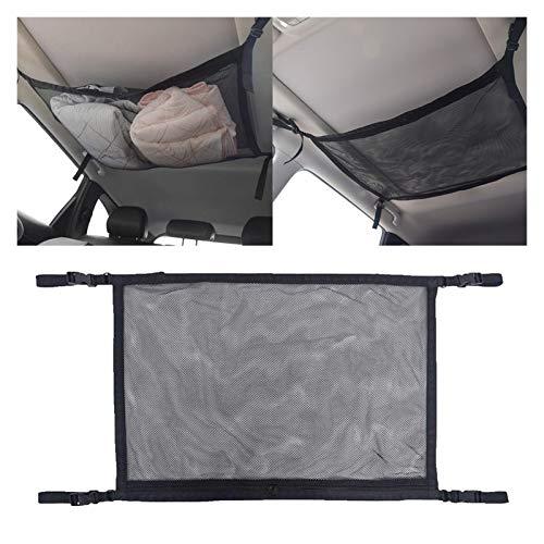 Bolsillos Soporte Tablet Fácil de Limpiar,Coche Net Pocket Storage Techo de techo Neto de carga en el tronco bolsa interior para contenedor automático accesorios multifunción universal