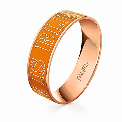 Brazalete unisex de acero de la marca Folli Follie, color naranja, 17 centímetros (referencia: 3B13T016RO)
