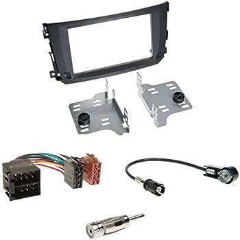 Black Radio Installation Kit Double Din Car Radio 2 Din Elektronik
