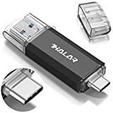 Thkailar 64GB タイプC USBフラッシュドライブ(Type - C usb3.1 gen1 + usb3.0)高速デュアルフラッシュディス ブラック(64GB, Black)