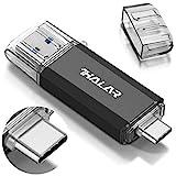 THKAILAR USB-C Flash Drive 64GB 128GB 256GB 512GB 2 in One OTG High Speed USB 3.0 Thumb Drive C Memory Stick for Android Phone/PC/Galaxy/Mac(64GB, Black)