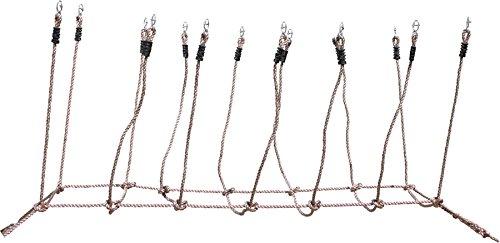 small foot 2020161 foot 6998 Seilbrücke aus sicherem Kunststoffseil, zum spannen zwischen Bäumen, belastbar bis 100 kg, ab 3 Jahren