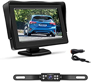 Accfly HD Backup Camera System Kit with 4.3 Inch Monitor