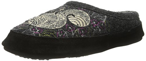 Acorn Women's Forest Mule Slipper, Grey Squirrel, X-Large (9.5-10.5)