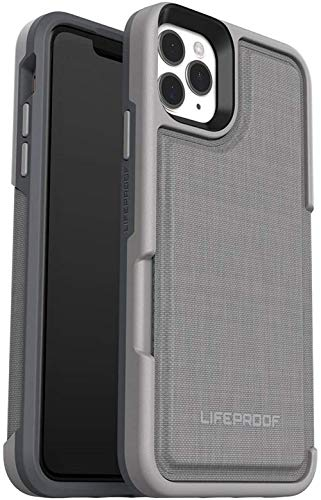 LifeProof FLIP Series Wallet Case for iPhone 11 Pro- Non Retail Packaging - Cement Surfer (Wet Weather/Slate Grey/Capri)