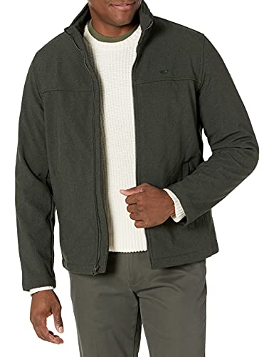 Dockers Men's The 360 Series Performance Soft Shell Jacket, Heather Olive, Medium