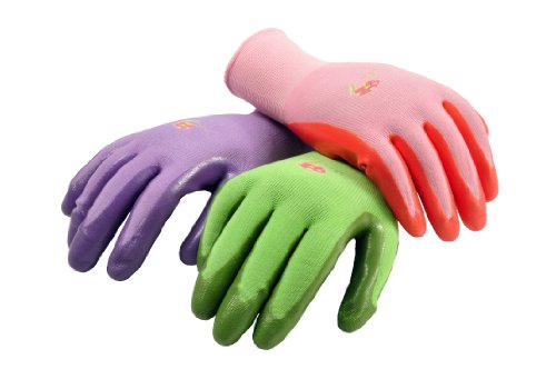 6 PAIRS Women Gardening Gloves with Micro Foam Coating - Garden Gloves Texture Grip - Women's Work Glove - Working Gloves For Weeding, Digging, Raking and Pruning, Medium