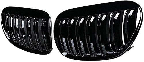 Coche Rejillas frontales de radiador para 2004 2005 2006 2007 2008 2009 2010 E63 E64 6-Series M6 Coupe Convertible, Delantero Parachoques Radiador VentilacióN Accesorios.
