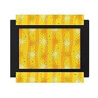 太陽の日差しのハンドペイント川 デスクトップフォトフレーム画像ブラックは、芸術絵画7 x 9インチ