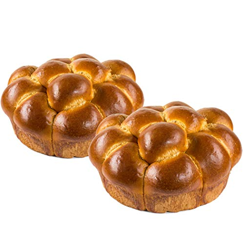 Pull-Apart Challah Bread | Kosher | Traditional Challah for your Holiday or Shabbat Table | 19 oz Per Challah Bread | Stern's Bakery [2 Challah Breads Per Pack](Pull Apart Challah Bread)