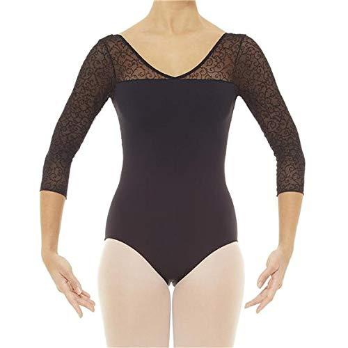 Intermezzo Damen Ballett Body/Trikot 31520 Bodymerpunti M3/4 - Farbe: Schwarz (037) - Größe: M
