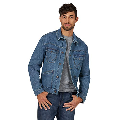 Wrangler Men's Retro Unlined Stretch Denim Jacket, Worn Indigo, XL