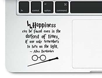 Motivational Life Quote Happiness can be Found Clear Vinyl Printed Decal Sticker for Laptop Compatible with All MacBook Retina Pro and Air Models Trackpad
