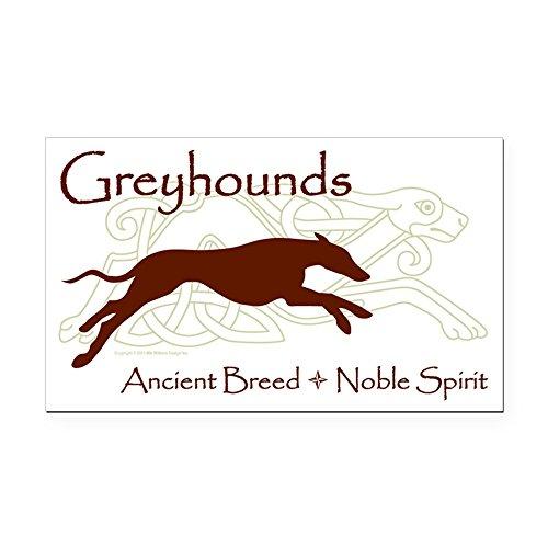 CafePress Celtic/Modern Greyhound Rectangle Car Magnet, Magnetic Bumper Sticker