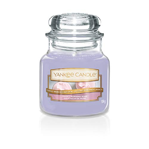 Yankee Candle Candle, Sweet Morning Rose, Small Jar