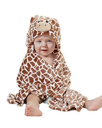 Feelme Baby Swaddle Wrap Infant Kleinkind Tier Bademantel Fleece Handtuch Decke mit Kapuze für Bad Pool Strand Dusche Geschenk