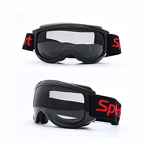 Bradoner Negro TPU Anti-Niebla Gafas De Esquí Vidrios De Cocker Esférica Miopía Deportes De Invierno Al Aire Libre Los Hombres Y Las Mujeres Material De Escalada