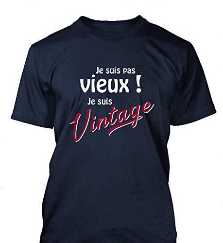Tee shirt homme Vieux Vintage fete des grand-peres humour papi