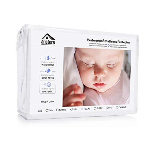 Protège Matelas Bébé Imperméable 60 x 120 cm, Housse Protection Alèse Respirante pour Lit Enfant, Hypoallergénique, Anti-Acarien, Souple et Silencieux