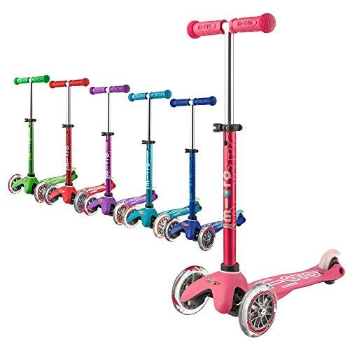 Micro Mobility - Trottinette Mini Deluxe Rose - Trottinette Enfant au Design Original - Apprentissage de l'équilibre en Douceur -...