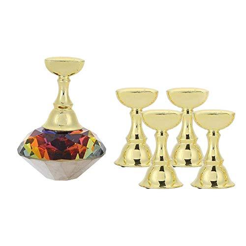 TOOGOO Magnétique Support de Base Pratique pour Les Ongles Outils D'Affichage Crystal (Flame)