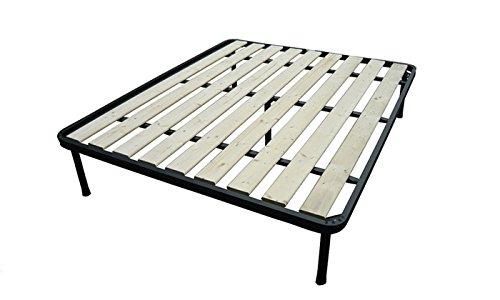 Bed Store - RETE A TAVOLE MATRIMONIALE 160X190 ORTOPEDICA RINFORZATA 5 PIEDI