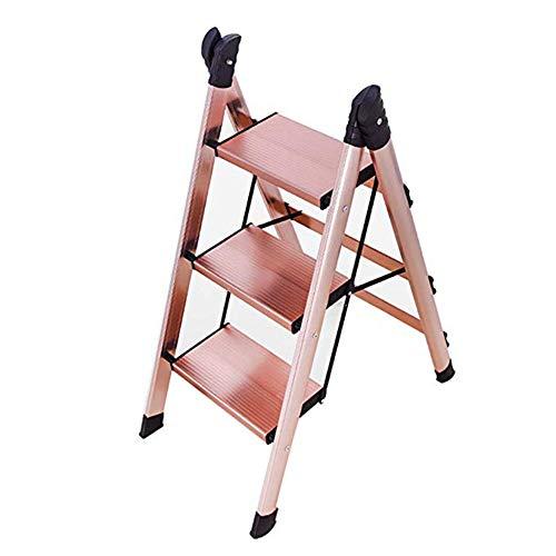 ZXMDP 3-traps ladder - Draagbaar - Anti-slipvoetjes - Opvouwbaar, gemakkelijk op te bergen ontwerp - Ideaal voor thuis/keuken/garage - Lichtgewicht aluminium ladder
