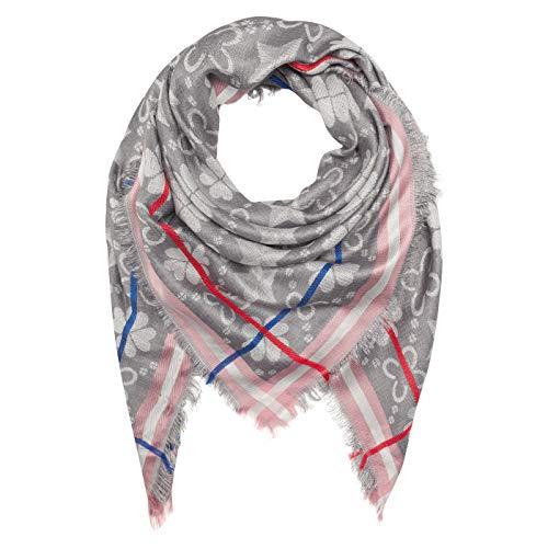 CODELLO Damen Tuch, Wärmend | Jaquard-Muster | 80% Viskose, 10% Wolle, 10% Metall | 120 x 120 cm