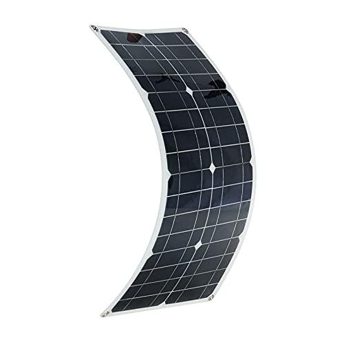 SISHUINIANHUA 300W Kit de Panel Solar Power RV portátil Monocrystalline Batter Batería Flexible 12V