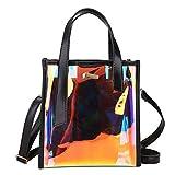 D.ragon Arbeiten Sie transparente Tasche, Neue noch große Kapazitäts-Schwiegermutter-transparente Handtaschen-Schulter-Beutel-Kurier-Beutel-Gelee-Süßigkeit-Handtaschen-Frauen um