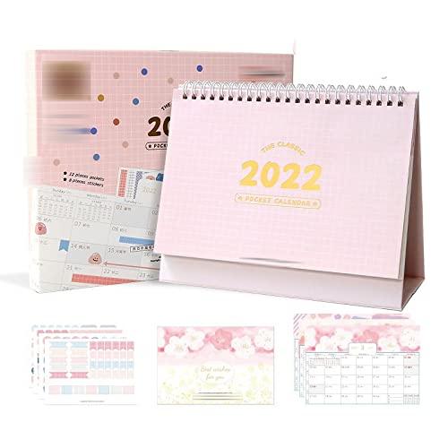 WQTR Calendario 2022 2022 Dibujos Animados Lindo Calendario de Escritorio de Bolsillo Grande Kawaii Desktop Decoración de la decoración del Calendario Año académico en pie (Color : Tian Tian Mei guo)