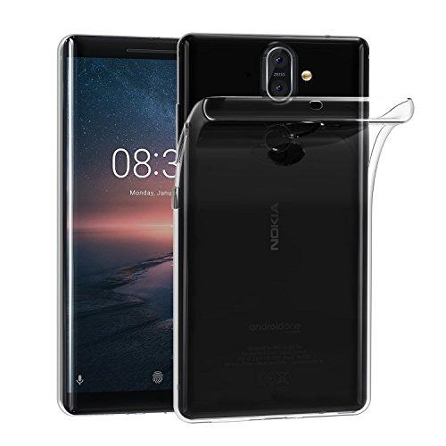 KP TECHNOLOGY Funda para Nokia 8 Sirocco Advance Shock-Absorbente Ultra Ligero Transparente [Protección contra Caídas] Suave TPU Gel Funda Para Nokia 8 Sirocco